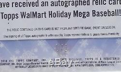 1/1 Santa Claus 2018 Topps WalMart Holiday Baseball Relic Autograph
