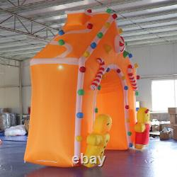 13x13ft LED Christmas Decoration Inflatable Arch with Candy Cane Cute Doorman