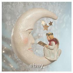 17 Bethany Lowe Storybook Angel Crescent Moon Stars Retro Vntg Christmas Decor