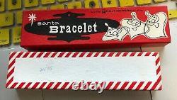 1959 HOLT HOWARD SANTA CHRISTMAS HOLIDAY BRACELET withORIGINAL BOX