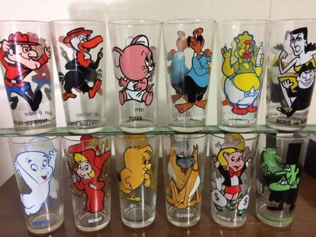 1973 Vintage Pepsi Collector Glasses Looney Tunes Set Of 41 Looney Toones