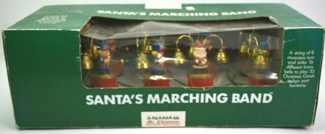1991 Mr. Christmas Santa's Marching Band 35 Carols, Light And Motion! Vintage