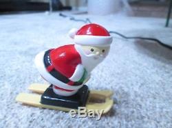1992 Mr Christmas SANTA'S SKI SLOPE for Christmas Tree Complete & Tested EUC