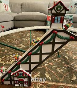 1992 Mr. Christmas Santa's Ski Slope Animated Decoration Tested & Complete