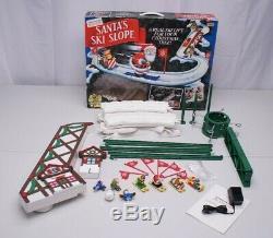 1992 Mr Christmas Santas Ski Slope Animated Ski Lift Complete Works Great