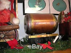 1993 Unique Handcrafted Large Wooden Christmas Train with board 84 x 15