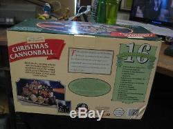 1997 Mr. Christmas Christmas Cannonball Animated Musical Train with Smoke NIB NOS