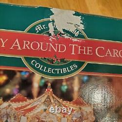 1997 Mr Christmas Holiday Around The Carousel Animated Musical 30 Songs In Box