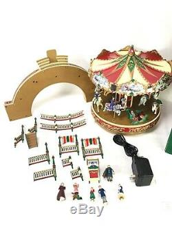 1997 Vintage Mr. Christmas Holiday around The Carousel Works! Complete! Box
