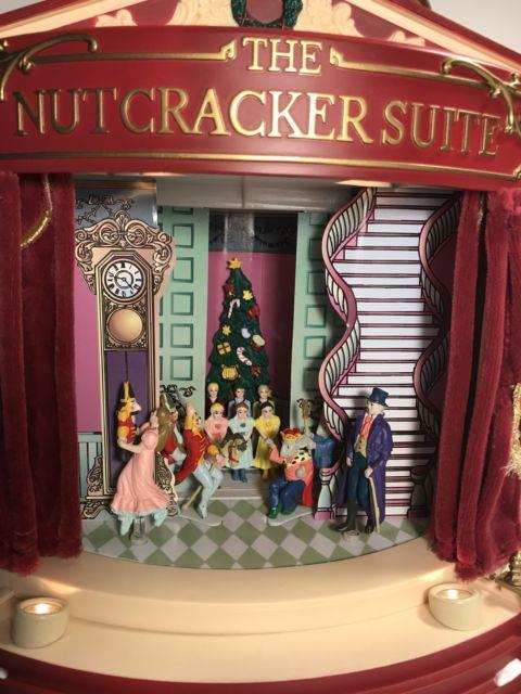 1999 Mr Christmas Gold Label Nutcracker Ballet Suite Animated Stage Music As-is