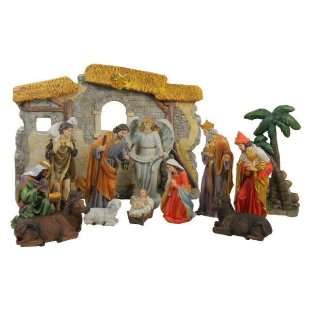 2 Foot Tall 13 Piece Holy Nativity Set Scene Christmas Decoration Manger Family