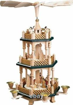 2 Tier Nativity German Wood Christmas Pyramid