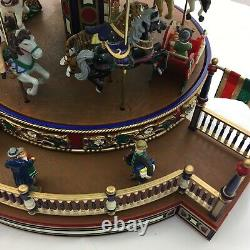 2002 Vintage Mr. Christmas Holiday around The Carousel Works! Complete! Box