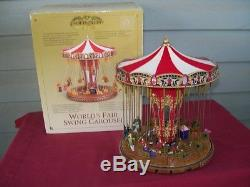 2004 Mr Christmas Gold Label Worlds Fair Swing Carousel Music, Animated, Lights