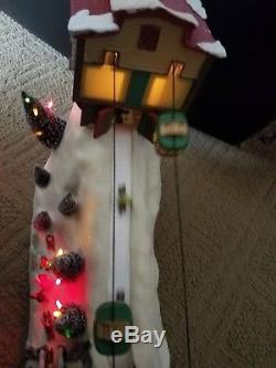 2006 Mr. Christmas Winter Wonderland Cable Cars Movement & Music Works with Box