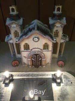2007 Kathe Wohlfahrt Yuletide Church Lighted Music Box White Christmas Limited