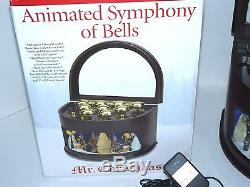 2009 Animated Symphony of Bells Ice Skaters Mr Christmas in Box