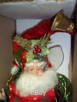 2010 Mark Roberts Teddy Bear Maker Fairy Stocking Holder Elf med 16 51-022366