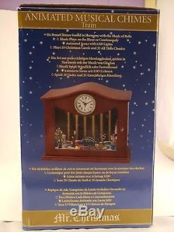 2010 Mr. Christmas Animated Musical Chimes Train W Clock Nib Vintage Rare! 000000