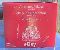 2018 Christmas Animated Holiday Musical Winter Village / Moving Train & 8 Songs