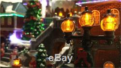 2018 Christmas Animated Musical Winter Village / Moving Train & 8 Songs