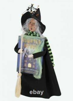 2020 Byers Choice Halloween Haunted House Sign Witch Caroler New