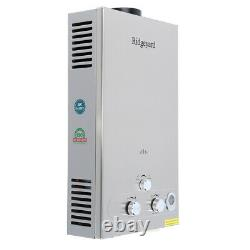 3.2GPM Water Heater 12L LPG Propane Gas Tankless Stainless Instant Boiler