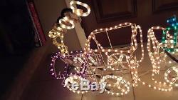 3D Christmas Rope Light Train Illuminated Sculpture Rare Xmas Yard Decoration