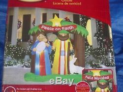 6'Gemmy 2011 Peace on Earth Nativity Scene Lighted Christmas Airblown Inflatable