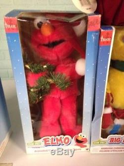 6 animated Telco christmas Sesame Street Big Bird Oscar Ernie Cookie