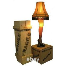 A Christmas Story 45 Ladies Leg Lamp Full Size Major Award with Wooden Leg Crate