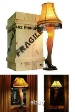 A Christmas Story Deluxe Large 50 Lady Leg Lamp Major Award with Full Wood Crate