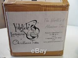 Aluminum Christmas Tree Yuletide Expressions 7FT Deluxe Slimline And Color Wheel