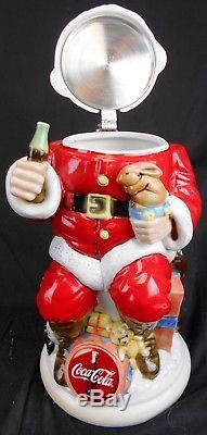 Anheiser-Busch Coca-Cola Santa Character Stein LE 807/10,000 EUC