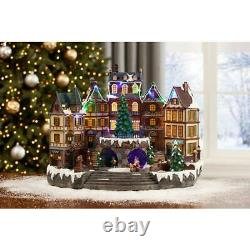 Animated Holiday Downtown Home Christmas Villages Decoration with Music 12.5 in