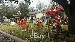 Animated Home accents Christmas Merry Go round NOT MADE ANYMORE Rare
