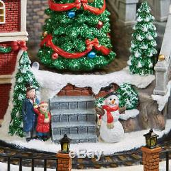 Animated LED Train Village, Plays 8 Classic Holiday Songs, Christmas Holiday