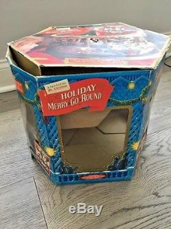 Animated MR CHRISTMAS 1994 Holiday Carousel Merry go Round Lovely Musical Piece
