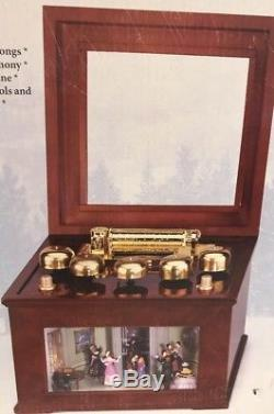 Animated Music Box with Real Brass Bells MR CHRISTMAS Victorian Ballroom Dancers