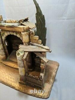 Anri Nativity Creche 1960's Christmas Set Walter Bacher Figures Carved Wood
