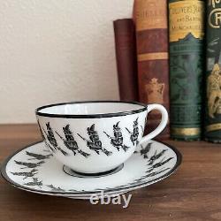Antique Austria Petersyn Black Witch Fortune Telling Porcelain Tea Cup & Saucer
