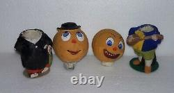 Antique German HALLOWEEN Candy Container SET Tender in Love Jack-o-Lantern COMPO
