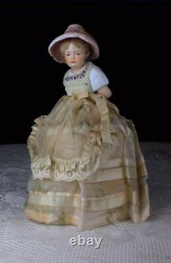 Antique Rare German Snowed Half Doll Christmas Candy Container Book Example
