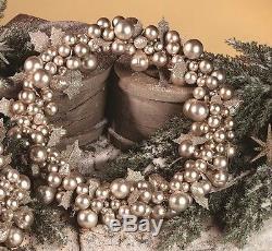 Bethany Lowe Christmas 18Silver Mercury Glass Wreath LG6801