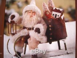 Bethany Lowe Christmas Small Woodland Santa on Sled New TD7679