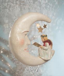 Bethany Lowe Christmas Storybook Angel On Moon Large Size New 2020 TD9033