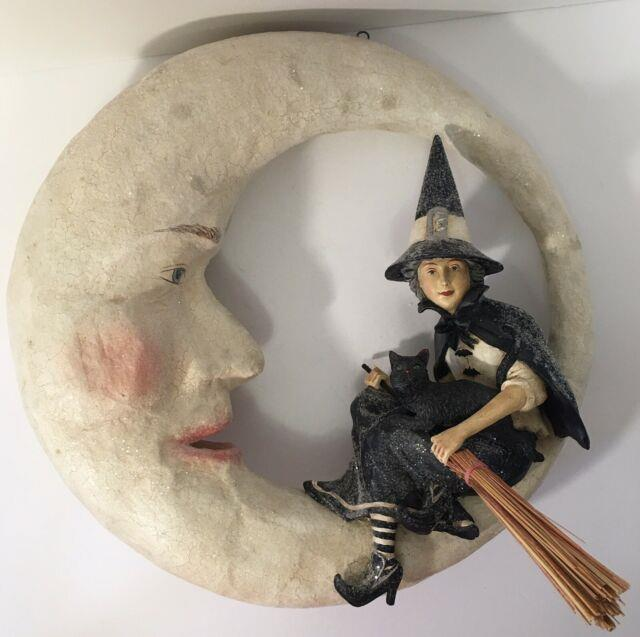 Bethany Lowe Halloween Witch On Moon Tg9807 Retired