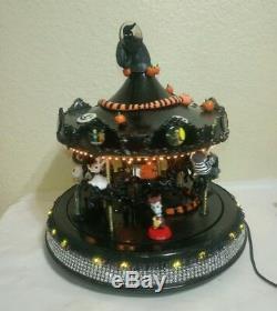 Black Halloween Carousel CUSTOM NIGHTMARE BEFORE CHRISTMAS withligh Mr. Christmas