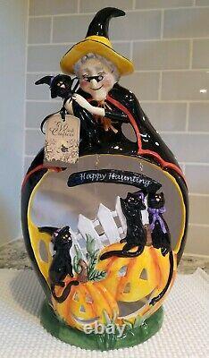 Blue Sky Clayworks Goldminc Halloween Happy Haunting Girty Hugs Cat Tea Light