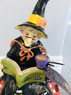 Blue Sky Clayworks Heather Goldminc Halloween Witch Enchanted Forest Tealight